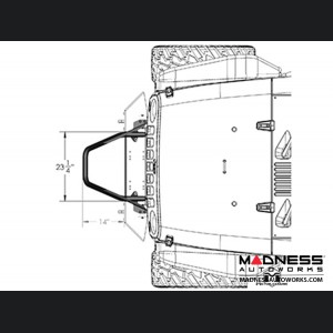 Jeep Wrangler JK Frame-Built Bumper Base w/Crawler Caps - #1402