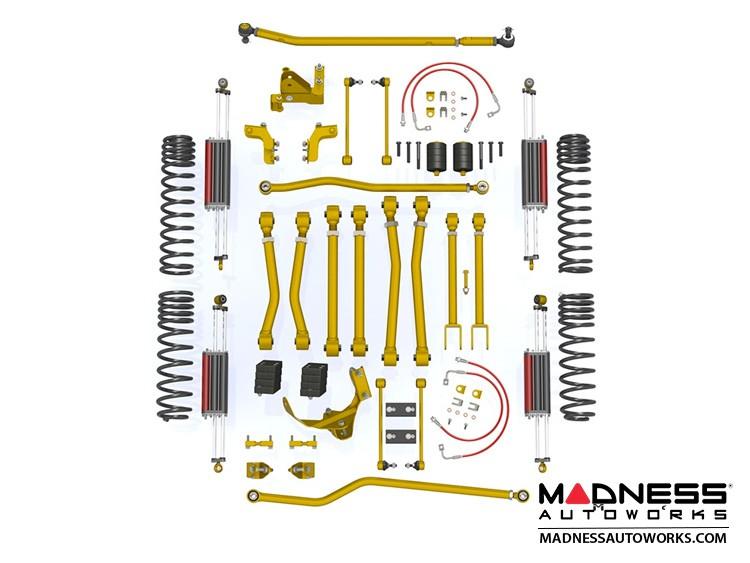 """Jeep Wrangler JK Game-Changer Suspension 4.5"""" - Hi-Steer - 6Pak Edition"""