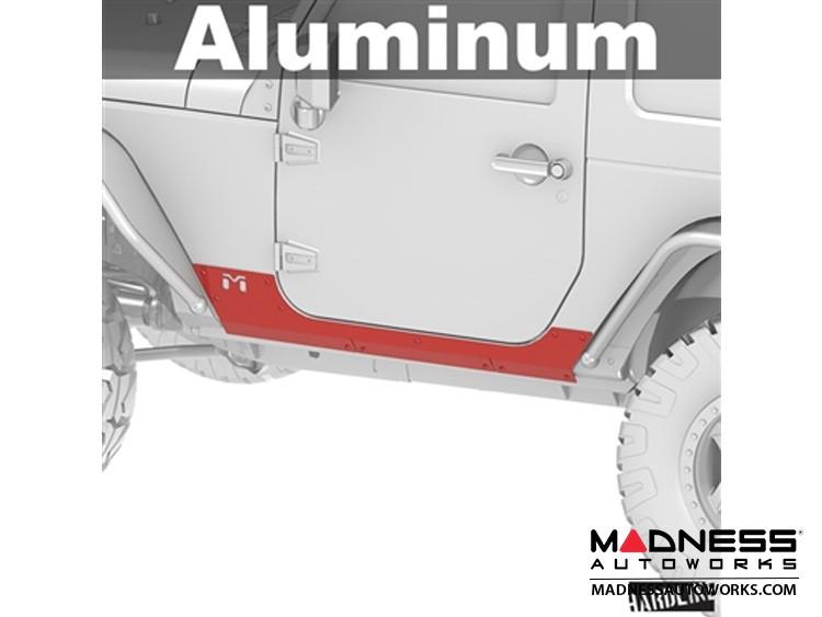 Jeep Wrangler JK Universal Aluminum Rocker ExoSkin - Pair - 2Door