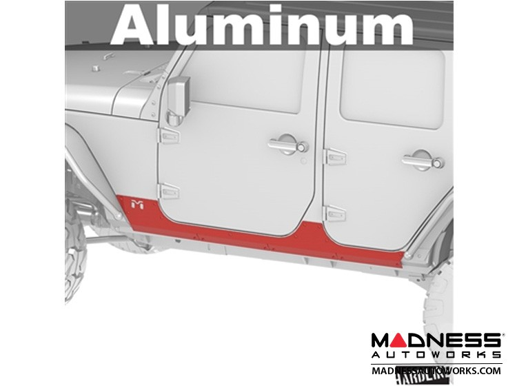 Jeep Wrangler JK Universal Aluminum Rocker ExoSkin - Pair - 4Door