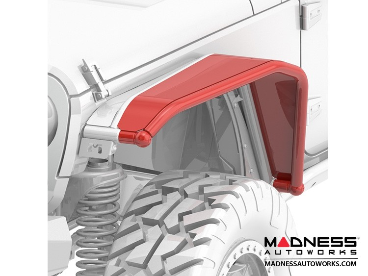 Jeep Wrangler JK Overline Hi-Clearance Quick-Release Front Flare - Wide Edition - Pair