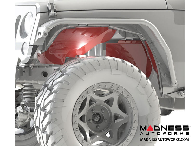 Jeep Wrangler JK Replacement Aluminum Inner Fender Set