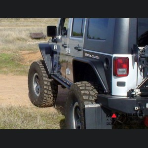 Jeep Wrangler JK Overline Rear Flare Mounting Exoskin - Pair - 2 Door