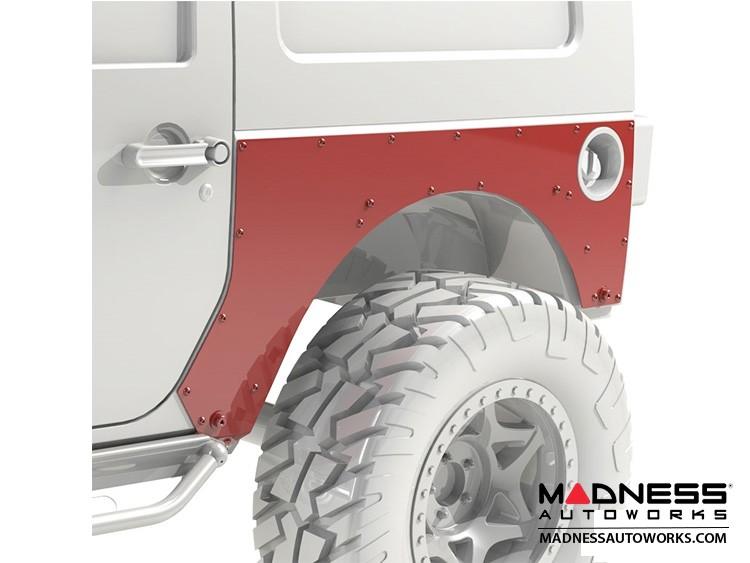 Jeep Wrangler JK Overline Rear Flare Mounting Exoskin - Pair - 4 Door