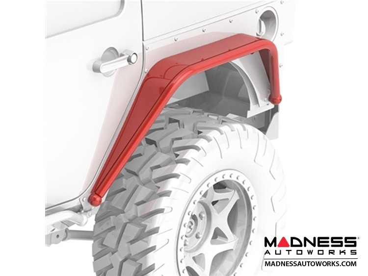 Jeep Wrangler JK Overline Hi-Clearance Dovetailed & Removable Rear Flare - Standard Edition - Pair