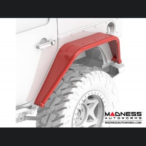 Jeep Wrangler JK Overline Hi-Clearance Dovetailed & Removable Rear Flare - Wide Edition - Pair