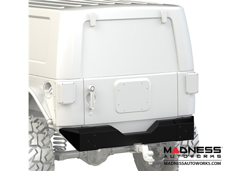 Jeep Wrangler JK Crawler Bumper - Rear - Black Powder Coated