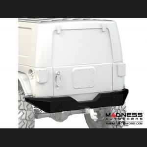 Jeep Wrangler JK Bumper - Full Width - Rear - Black Powder Coated