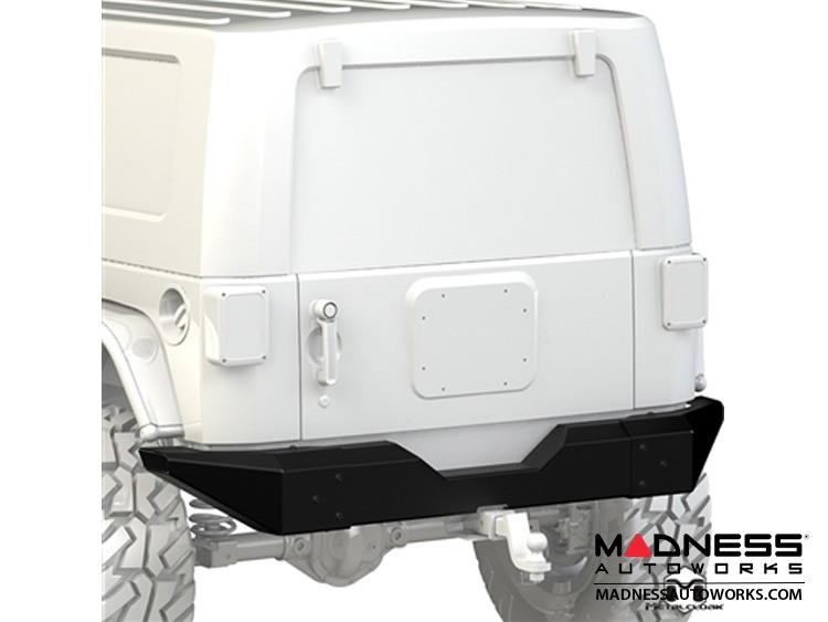 Jeep Wrangler JK Bumper - Full Width - Rear - Black Powder Coated
