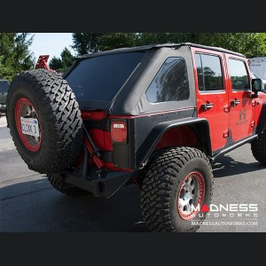 "Jeep Wrangler JK Rear Bumper ""Crawler"" Tire Carrier - 62"" Black Powder Coated"