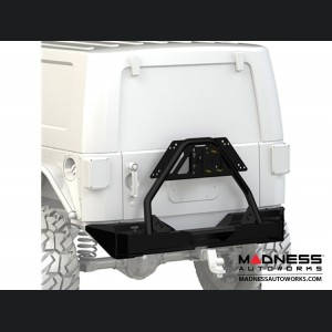 "Jeep Wrangler JK Rear Bumper ""Crawler"" Tire Carrier - 62"" Black Powder Coated"
