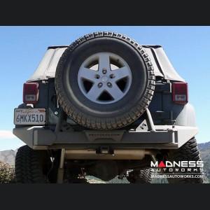 """Jeep Wrangler JK Rear Bumper """"Full Width"""" Tire Carrier - 72"""" Black Powder Coated"""