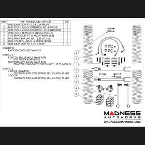 "Jeep Wrangler JK True Dual-Rate Lift Kit - 2.5"""