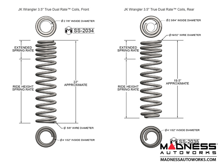 jeep wrangler jk game-changer suspension - 2 5 u0026quot   3 5 u0026quot  - fox edition - madness autoworks