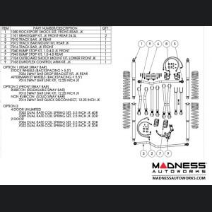 """Jeep Wrangler JK Game-Changer Suspension 2.5""""/3.5"""" - RockSport Edition"""