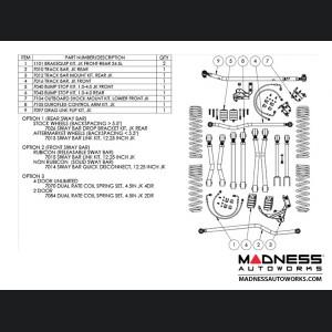 """Jeep Wrangler JK Game-Changer Suspension 4.5"""" - Hi-Steer - No Shock Edition"""