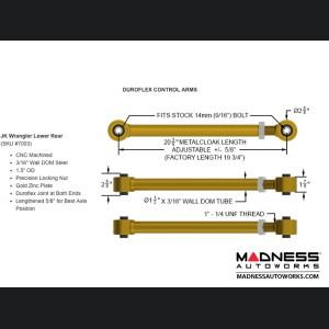 "Jeep Wrangler JK 4-Link Long Arm Compound Suspension System - 4.5""/5.5"" - No Shock Edition"