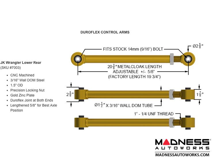 Jeep Wrangler JK 4-Link Long Arm Compound Suspension System - 4 5