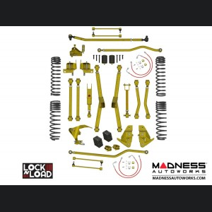 "Jeep Wrangler JK Lock-N-Load Long Arm Compound Suspension - 4.5""/5.5"" - No Shock Edition"