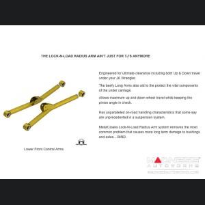 "Jeep Wrangler JK Lock-N-Load Long Arm Compound Suspension - 4.5""/5/5"" - 6Pak Edition"