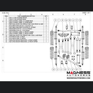 "Jeep Wrangler JL Suspension Kit  - Game Changer - 2.5""/3.5"" - 6Pak Edition"