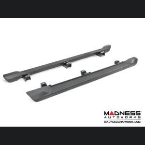 Jeep Wrangler JL Side Steps - Molded Black Plastic - 4 Door