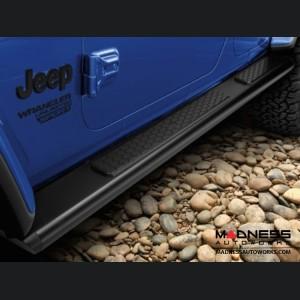 Jeep Wrangler JL Tubular Side Steps - Black