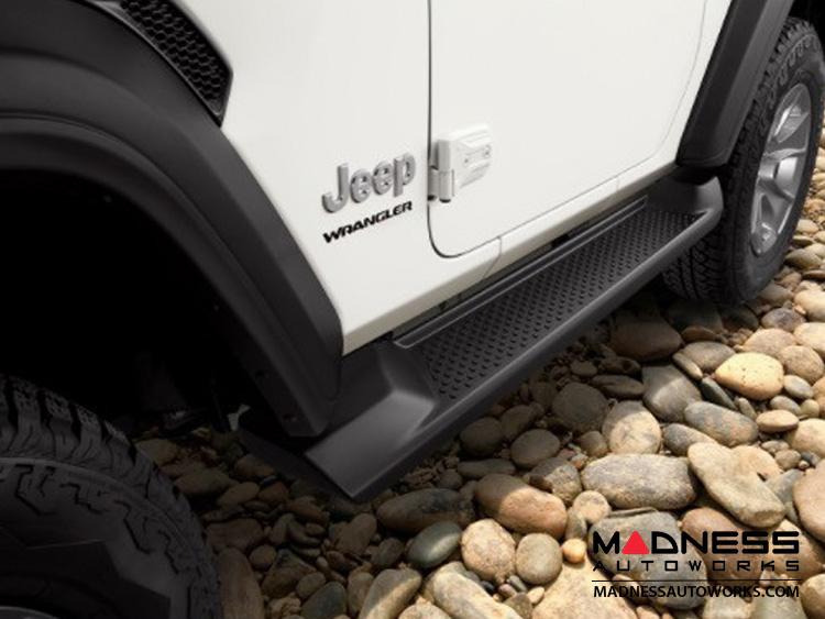 Jeep Wrangler JL Side Steps - Molded Black Plastic - 2 Door
