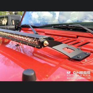 "Jeep Wrangler JK 20"" LED Single Row Hood Mounts"