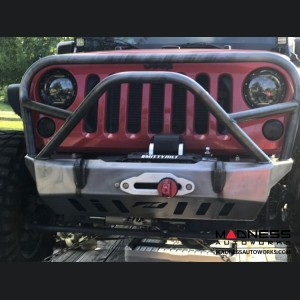 Jeep Wrangler JK Front Bumper - Crusher Series w/Grill Hoop and Stinger