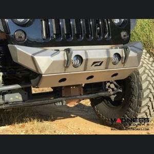 Jeep Wrangler JK Front Bumper Skid Plate - The Hammer