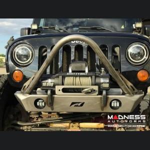 Jeep Wrangler JK Front Bumper - Hatchet Series w/ Stinger & Fog Lights