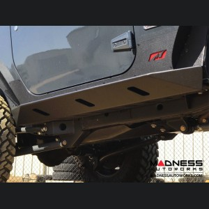 Jeep Wrangler JK Rocker Guards w/Step - Crusher Series