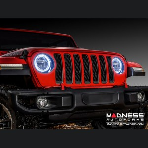 Jeep Wrangler JL LED Surface Mount Headlight Halo Kit - White