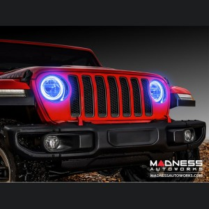 Jeep Wrangler JL LED Surface Mount Headlight Halo Kit - Blue