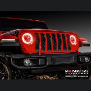 Jeep Wrangler JL LED Surface Mount Headlight Halo Kit - Red