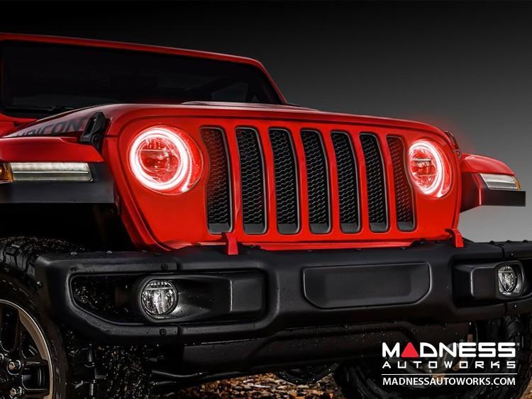 Jeep Wrangler JL LED Surface Mount Headlight Halo Kit - Red