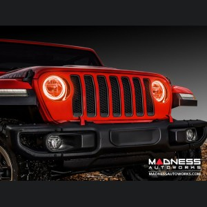 Jeep Wrangler JL LED Surface Mount Headlight Halo Kit - Amber