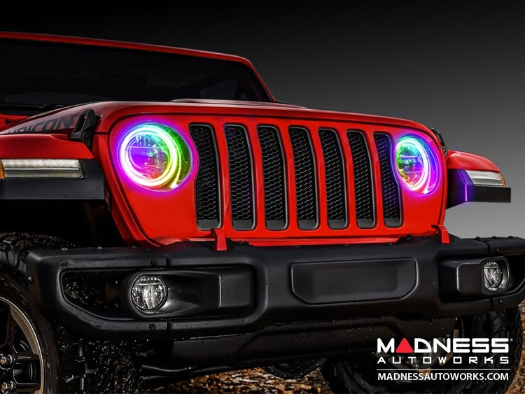 Jeep Wrangler JL LED Surface Mount Headlight Halo Kit - ColorSHIFT