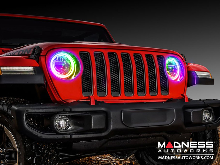 Jeep Wrangler JL LED Surface Mount Headlight Halo Kit - ColorSHIFT