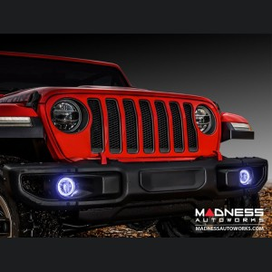 Jeep Wrangler JL LED Surface Mount Fog Light Halo Kit - White