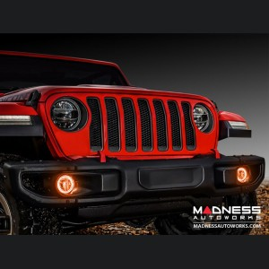 Jeep Wrangler JK LED Surface Mount Fog Light Halo Kit - Amber
