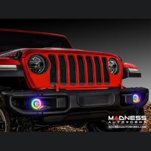 Jeep Wrangler JK LED Surface Mount Fog Light Halo Kit - ColorSHIFT