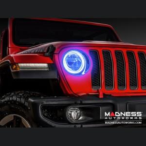 Jeep Wrangler JK LED Surface Mount Headlight Halo Kit - Blue