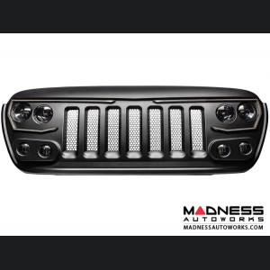 Jeep Wrangler JL Vector Series - Full LED Grille - Ocean Blue Metallic