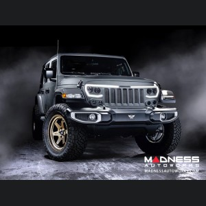 Jeep Gladiator JT Vector Series - Full LED Grille - Billet Silver Metallic