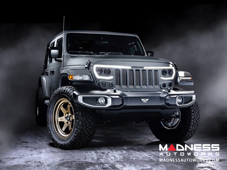 Jeep Gladiator JT Vector Series - Full LED Grille - Flat Black