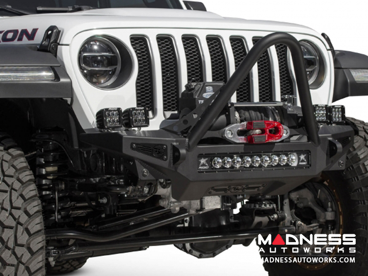 Jeep Wrangler JL Stinger Winch Bumper - Front - Rock Fighter