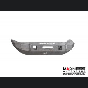 Jeep Wrangler JL Stealth Front Winch Bumper - Mid Width - Raw Steel - by Road Armor