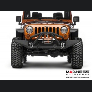 Jeep Wrangler JK XHD Bumper w/ Standard Ends & w/ Double X Striker Bar - Front